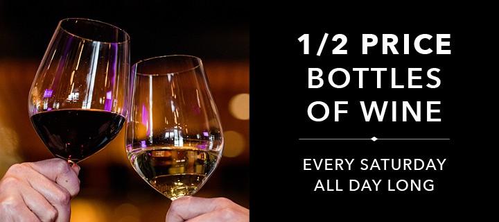 1/2 Price Bottles of Wine
